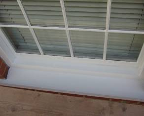 house exterior window painted