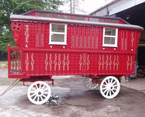 caravan ready for decoration