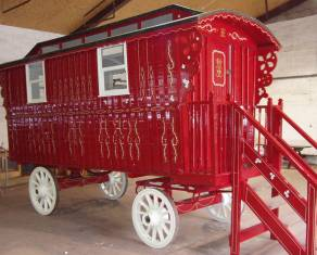 caravan painted and decorated