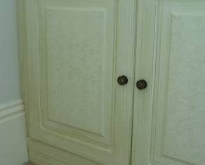 bathroom door painted