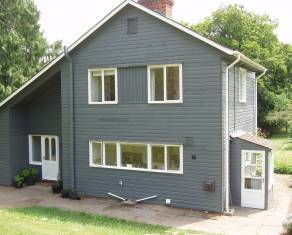 grey color painted house