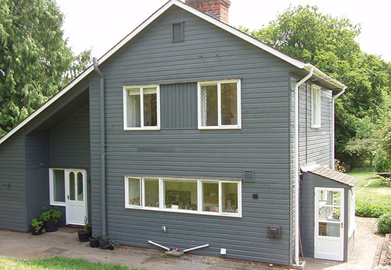 house exterior is painted by graham c fisher team